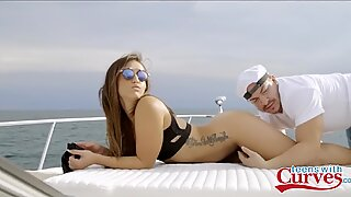 Sexy PAWG Teen Kelsi Monroe showcases Off fat caboose And Gets Fucked On A Boat